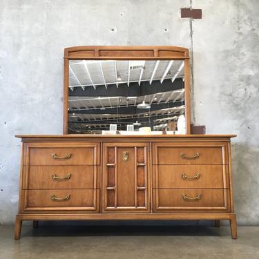 Mid Century Modern Sear's Symphony Lowball Dresser Mirror