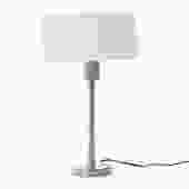 danish modern brushed stainless table lamp