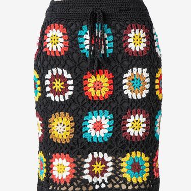 1970s Style Granny Square Skirt