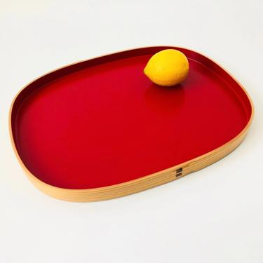 Large Rectangular Vintage Japanese Magewappa Lacquered Tray by SergeantSailor