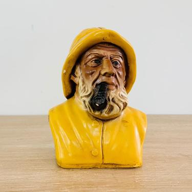 Vintage Ceramic Fisherman Figure by Orzeck by DelveChicago