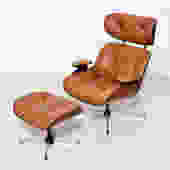 Vintage Plycraft Chair and Ottoman Chair