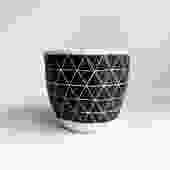 """6"""" Pot/Planter-Black White Triangles"""