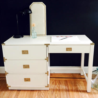 The Mia... ||SOLD||Beautiful Campaign Desk ||SOLD|| by emmaleejanedesign