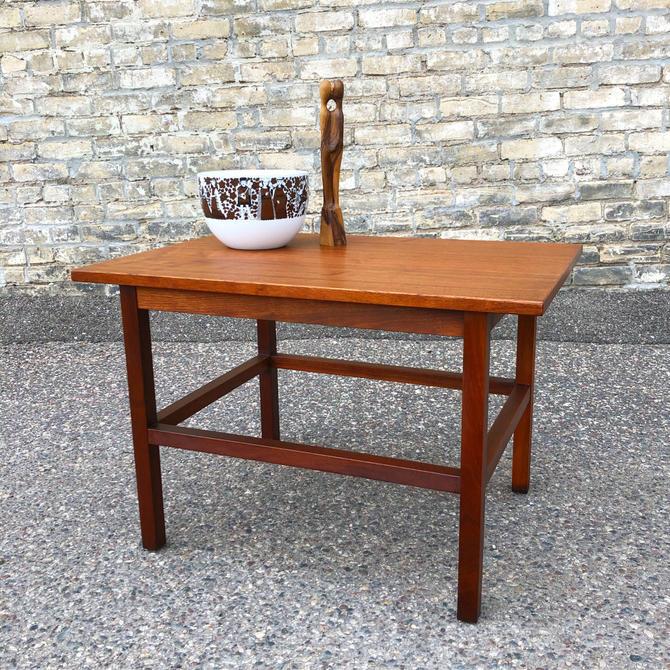 Minimalist Modern Walnut Accent Table