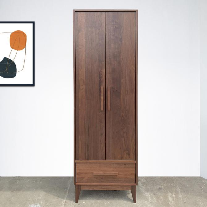 Dumont Armoire - Solid Walnut - Mid Century Modern Inspired by STORnewyork