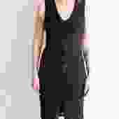 The Row Black Midi Dress, Size S