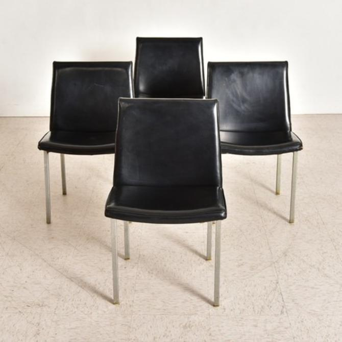 Black Vintage Dining Chairs, as Found