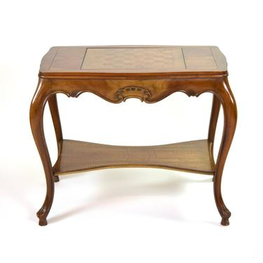 Beautiful Vintage Queen Anne Style Chess Game Table on Cabriolet Legs by PrairielandArt