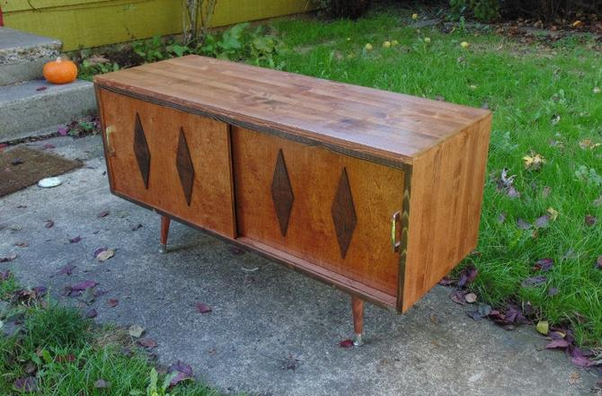 Mid Century Modern Record Cabinet Record Player Console by OrWaDesigns