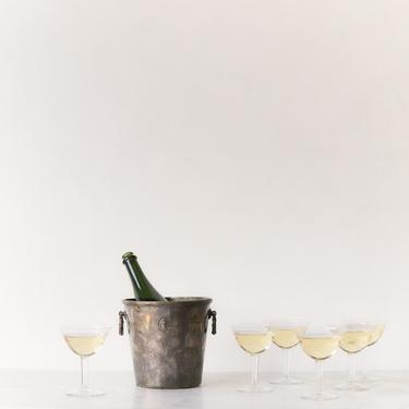 Silver Plated Embossed Champagne Bucket