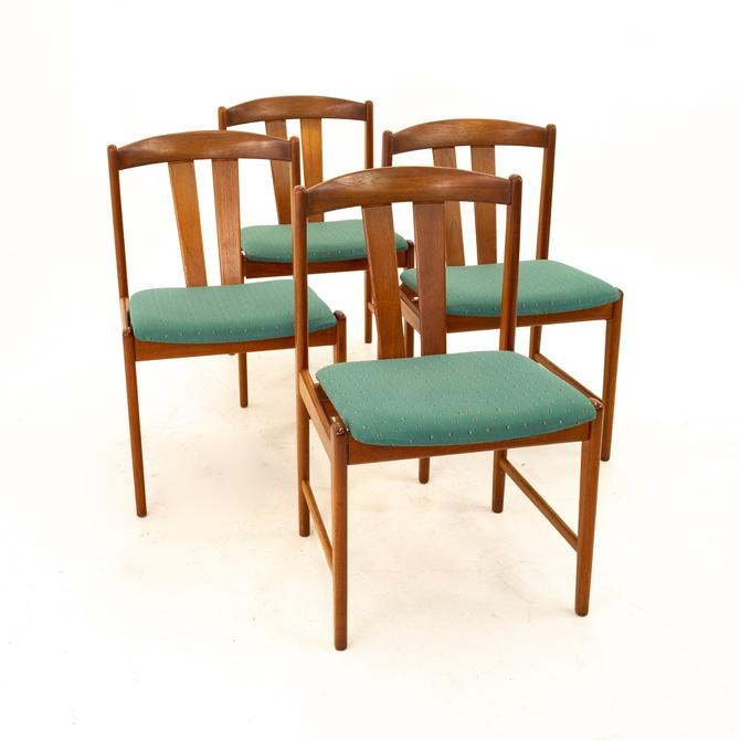 Mid Century Teak Dining Chairs - Set of 4 - mcm by ModernHill