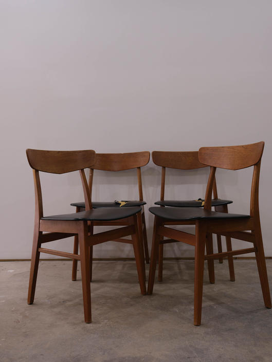 Set of 4 Vintage Danish Modern Farstrup Dining Chairs by FarOutFindsNYC