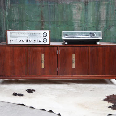 STUNNING, RARE Mid Century John Keal for Brown-Saltman Low Credenza Cabinet Vinyl Records Buffet Console Cabinet MCM by CatchMyDriftVintage