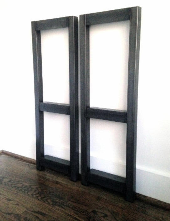 Metal Bookshelf Frames - THREE Shelf - DIY Project by arcandtimber