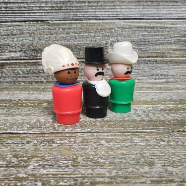 Vintage Fisher Price Westerners Little People #646, Cowboy w/ Cowboy Hat, Indian, Mayor, Western Town People, 1980s Retro Toys, Vintage Toys by AGoGoVintage