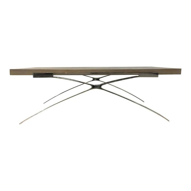 Organic Modern Elm and Nickel Cocktail Table By: Interlude Home