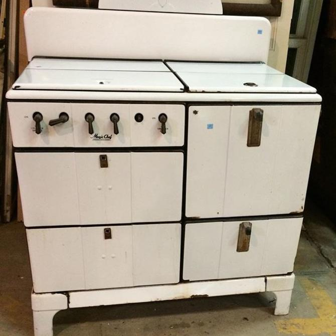 Vintage Magic Chef gas range One of many antique stoves in stock!