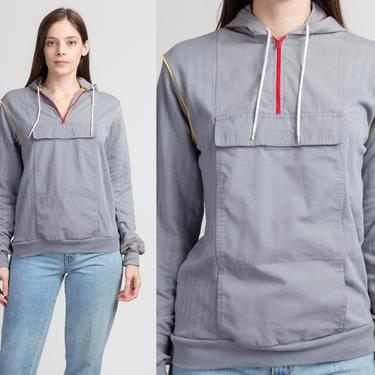 90s Yves Saint Laurent Sportswear Hoodie - Small   Vintage YSL Boy's Gray Pullover Sweatshirt by FlyingAppleVintage