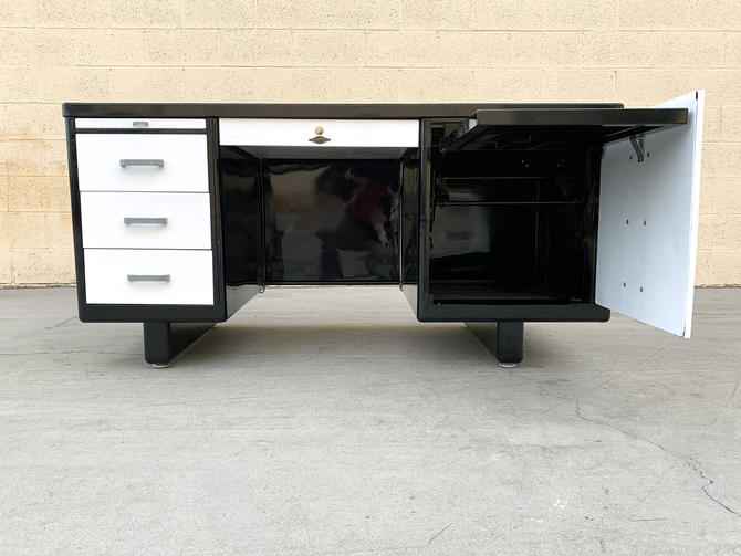 Uncommon Tanker Desk with Typewriter Cabinet, Refinished to Order, Call for Availability