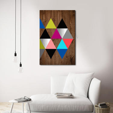 Wood Wall Art, Metal Art, Modern Painting, Geometric Design Scandinavian Art Minimalist Large Contemporary Woodwork Abstract Sculpture Decor by LauraAshleyWoodArt