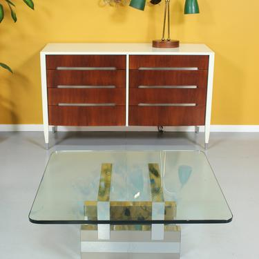 """Paul Evans """"Cityscape"""" Style Chrome Coffee Table by VintageSupplyLA"""