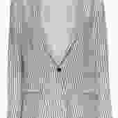 Rag & Bone - White Pinstriped Slim Blazer Sz 12