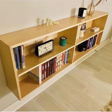 "CUSTOM ORDER Mid Century Modern 60"" Floating Birch Bookshelf (Los Angeles) by HouseCandyLA"