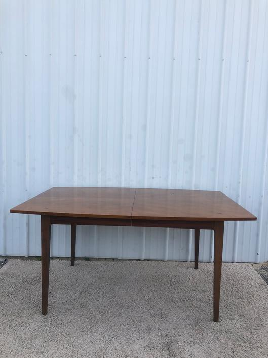 Mid Century Walnut Dining Table with Rosewoo Inlay