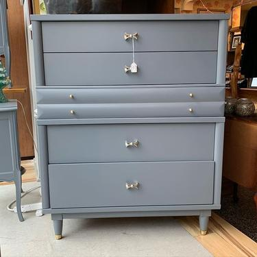 """Gray Mid Century Modern Chest of Drawers 36""""X18""""X45"""""""