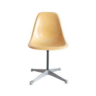 Vintage Eames swivel chair - Eames aluminum base ~ Eames fiberglass chair ~ PSC base chairs ~ Charles & Ray Eames Herman Miller Gold chairs by GoodWilson