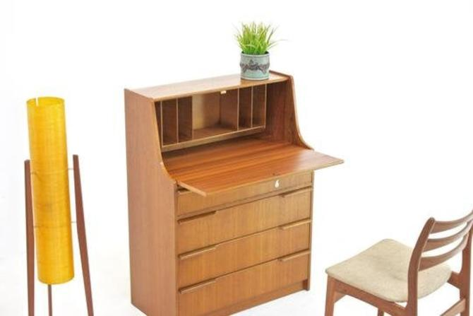 Mid Century Desk/Bureau..Danish by SputnikFurnitureLLC
