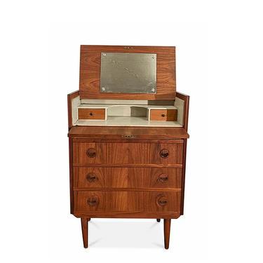 "Vintage Danish Mid Century Teak Dresser Vanity - ""Vinna"" by LanobaDesign"