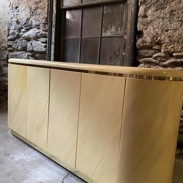 Mid century modern credenza Karl springer console cabinet mid century server by VintaDelphia