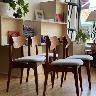 Set of Four Danish Teak Dining Chairs by Funder Schmidt & Madsen