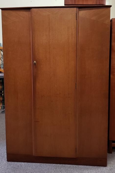 Item #S12 Vintage Oak Armoire by Lebus c.1960s