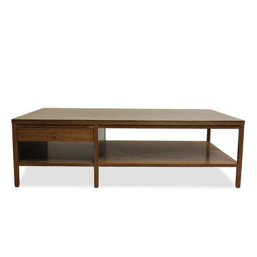 Leather-Topped Coffee Table by Paul McCobb