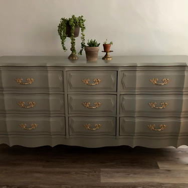 The Mireille... French Provincial 9 Drawer Dresser by emmaleejanedesign
