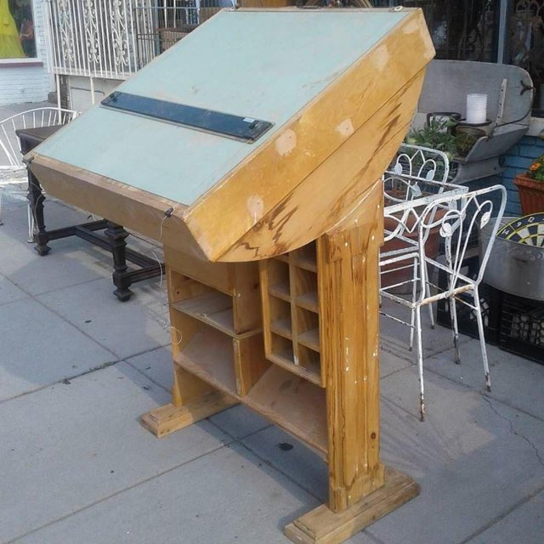 Hand Made Drafting Table From Bentley 39 S Vintage Furniture Attic