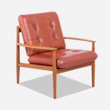 Grete Jalk Model-128 Teak Lounge Chair for France & Søn