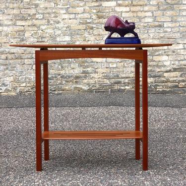 Made In Minnesota: Modern Mahogany + Cherry Console Table
