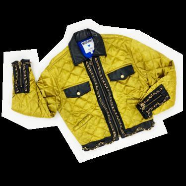 Moschino 90s satin chain jacket