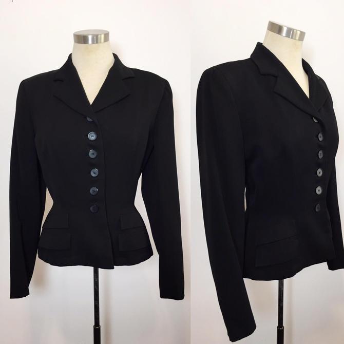 Vintage Suit Jacket Womens Vintage Suit Jacket 1940s Gabardine