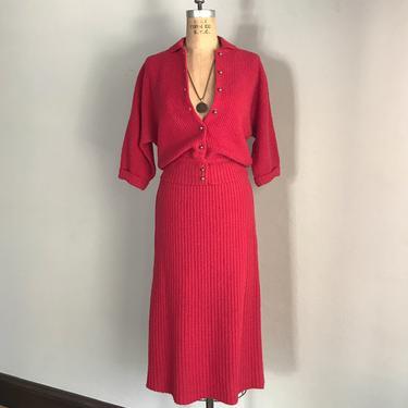 "Vintage 50s ""A Bermuda Original"" Wool Knit 2 Piece Matching Set by LucileVintage"