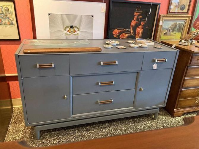 "Very fetching gray mid century buffet. 53"" x 20"" x 30.5"""