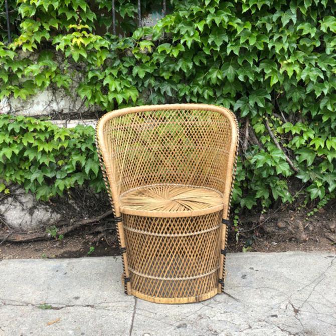 Vintage 1970's Boho barrel Outdoor Chair