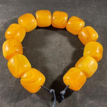 Beads Amber Butterscotch Scrambled Egg Yolk 25mm by accokeekpickers