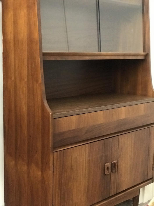 Free Shipping Within US - Vintage Mid Century Modern Bar Hutch Cabinet Storage by BigWhaleConsignment