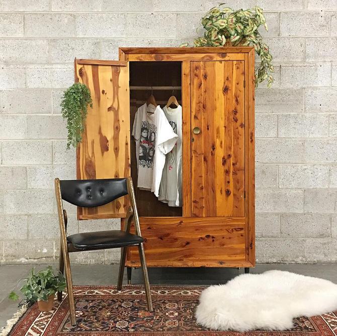 LOCAL PICKUP ONLY ———— Vintage mcm Cedar Wardrobe by RetrospectVintage215