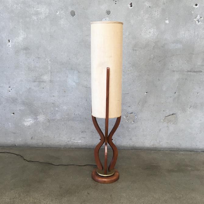Vintage Mid Century Teak Wood Lamp